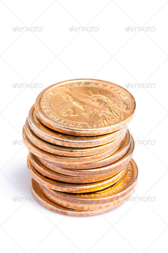 pile of coins - Stock Photo - Images