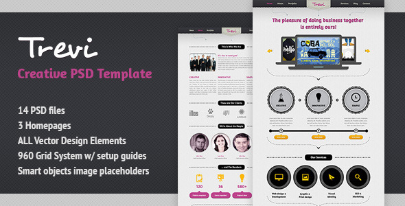 Trevi Multipurpose Creative Template - Creative PSD Templates