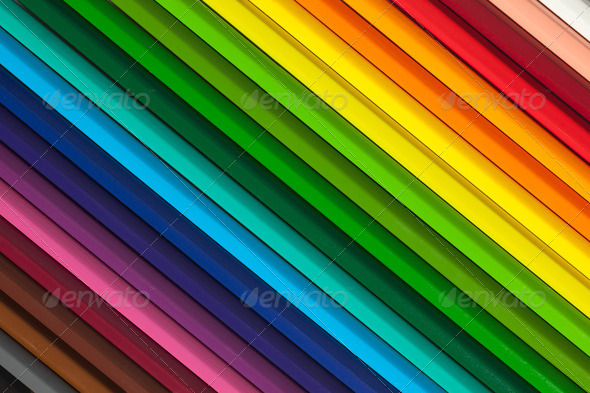 colorful background with crayons - Stock Photo - Images