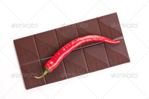 dark chili chocolate - Stock Photo - Images