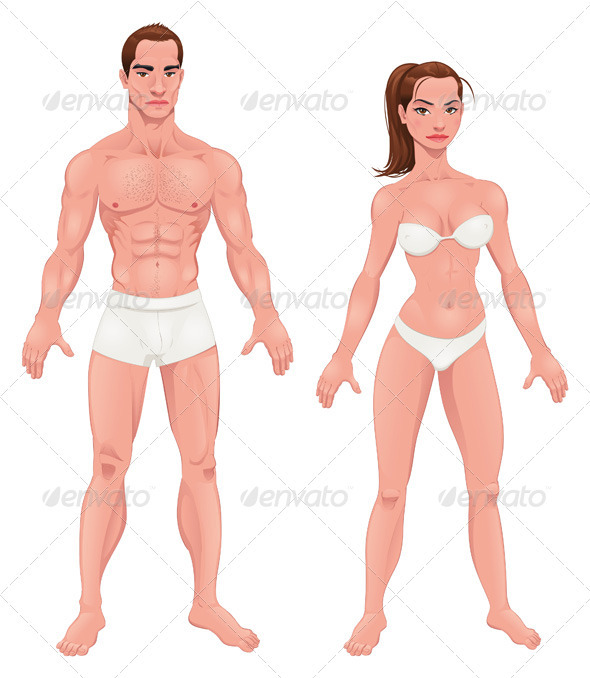 Man and Woman - People Characters
