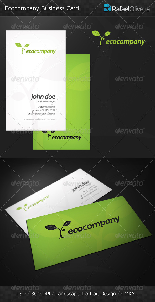 Ecocompany Business Card - Corporate Business Cards