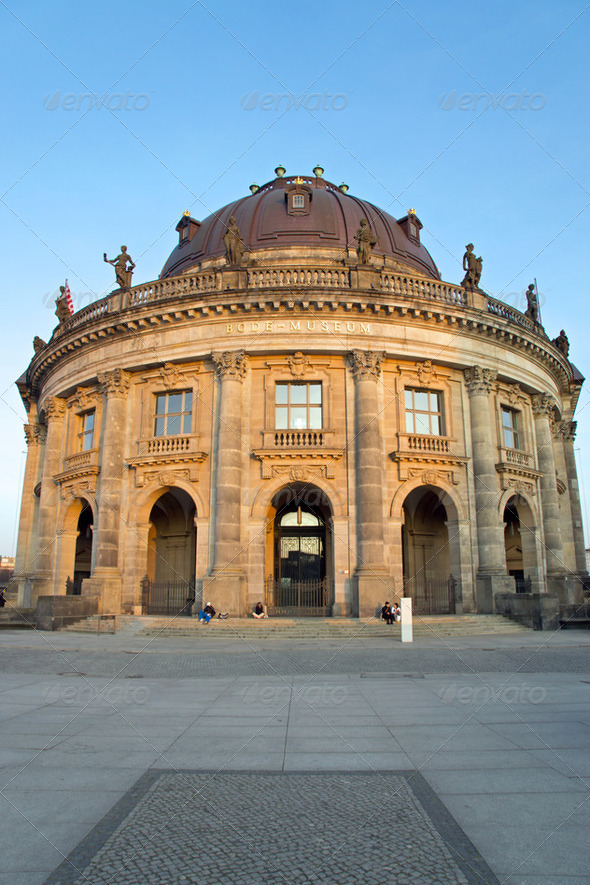 The famous Bodemuseum in Berlin - Stock Photo - Images