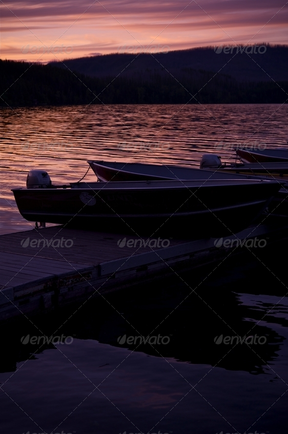 Lake Sunset - Stock Photo - Images