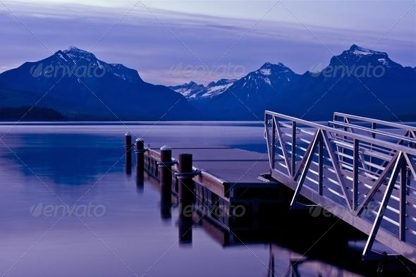 Boats Dock Lake McDonald - Stock Photo - Images