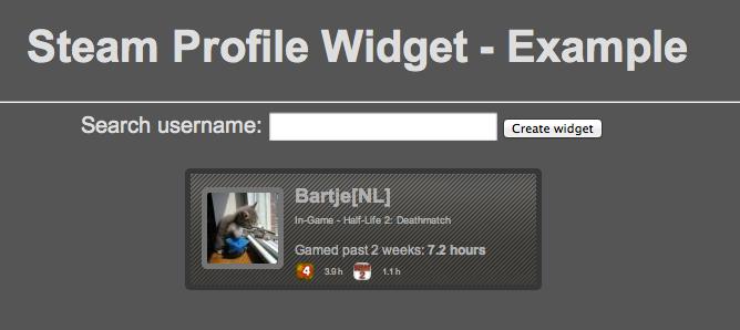 Steam Profile Widget
