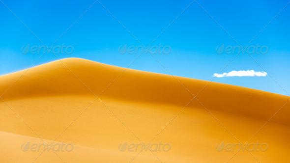 Desert dunes - Stock Photo - Images