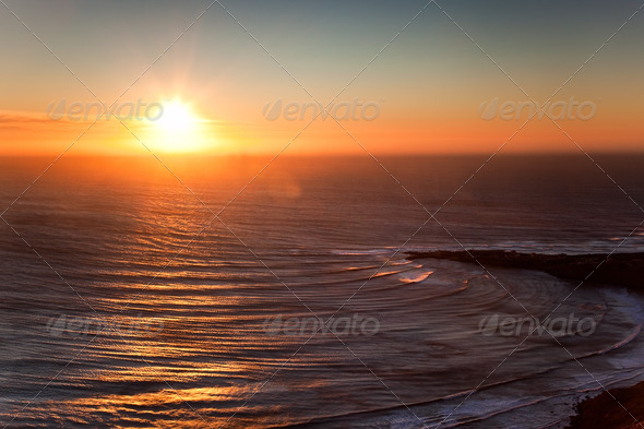 Seascape sunset - Stock Photo - Images