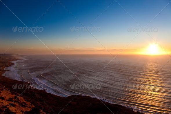 Seascape sunset - Stock Photo - Images