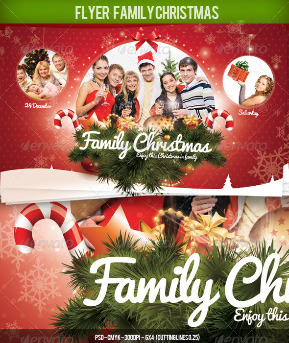 Flyer Christmas Family - Holidays Events