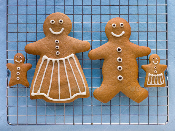 Gingerbread Family - Stock Photo - Images