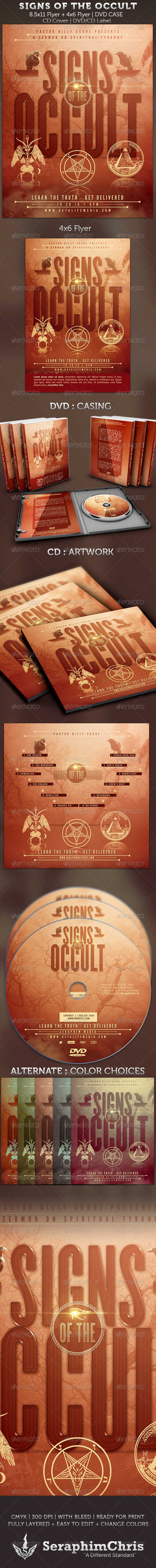 Signs of the Occult: Church Flyer and DVD Template - Church Flyers