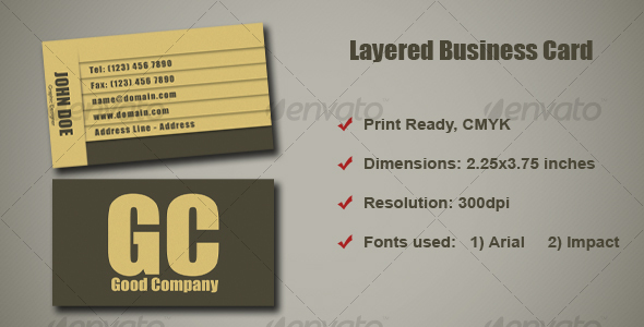 Layered Business Card - Corporate Business Cards
