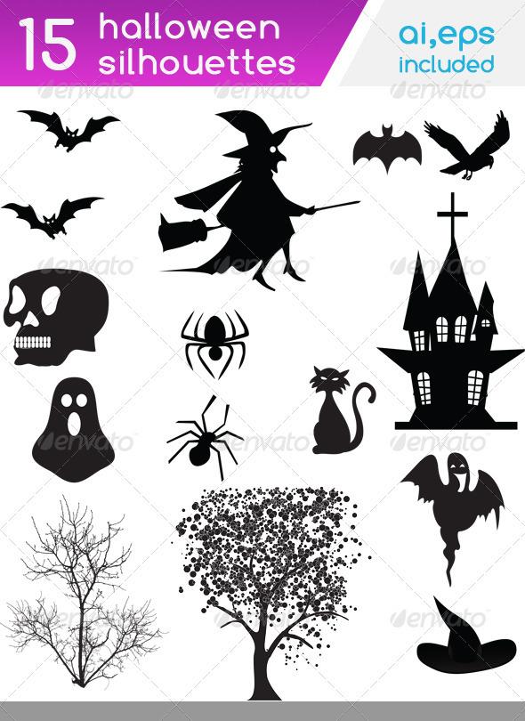 halloween silhouettes - Halloween Seasons/Holidays