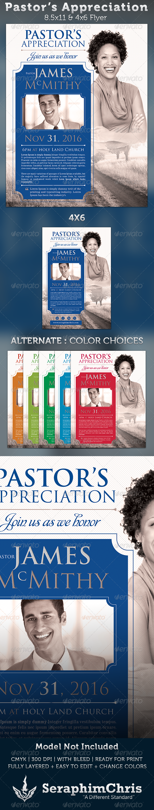Pastor's Appreciation: Church Flyer Template - Church Flyers