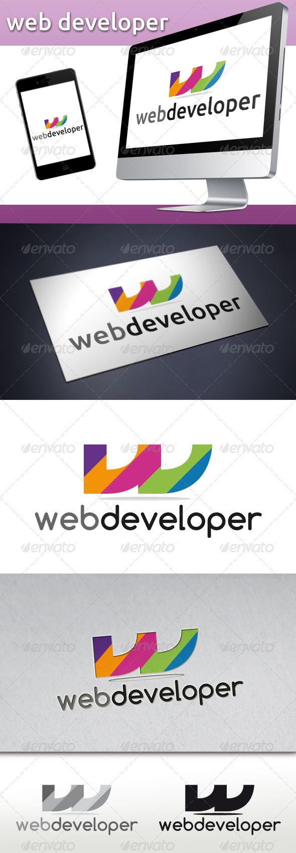 Web developer Logo - Letters Logo Templates