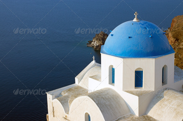 Church in Oia  - Stock Photo - Images