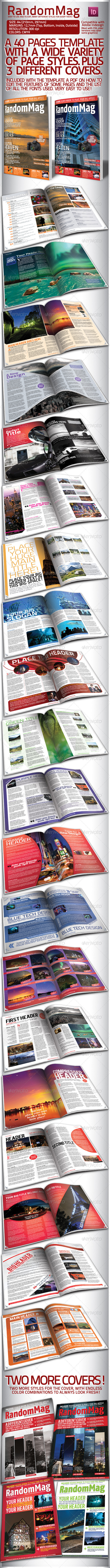 Modern Magazine - 40 Pages, 3 Covers - Magazines Print Templates