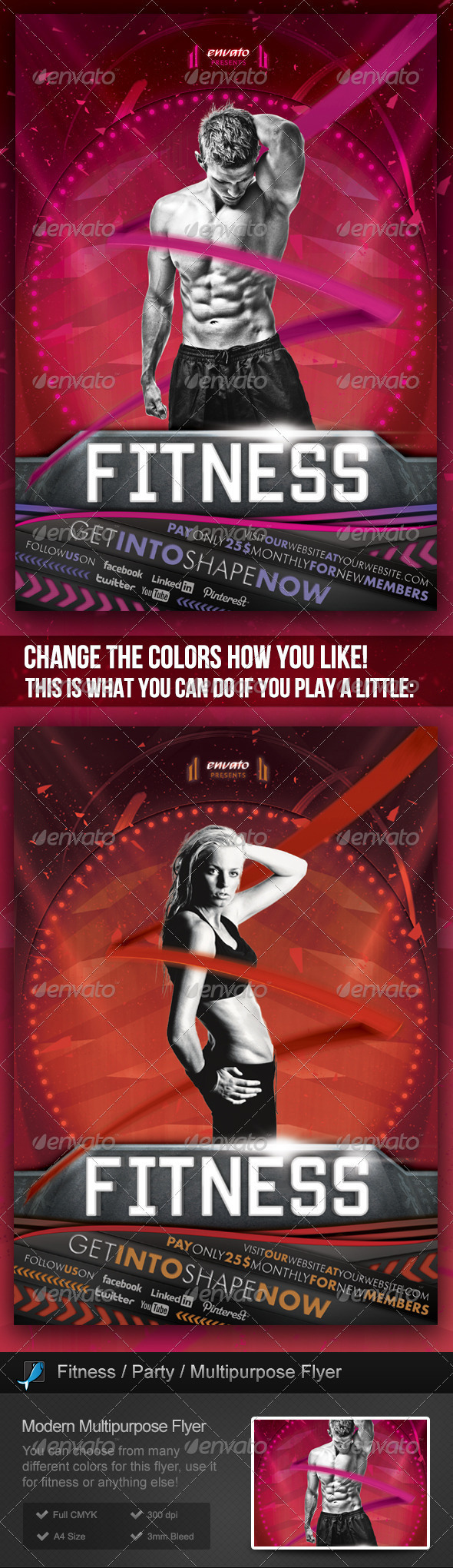 Fitness / Gym / Party / Event Multipurpose Flyer - Sports Events