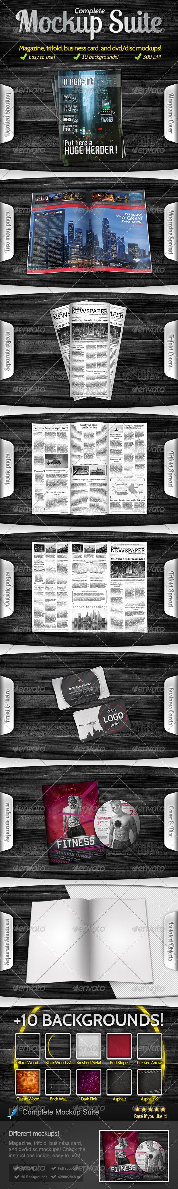 Complete Mockup Suite + 10 Bonus Backgrounds - Miscellaneous Print