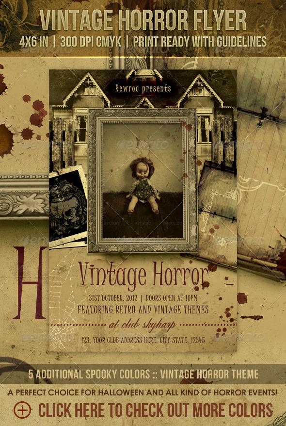 Vintage Horror Flyer - Holidays Events