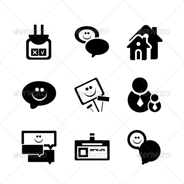 Vector Social Network Icons - Communications Technology