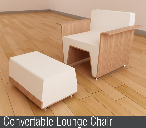 Convertable Lounge Chair - 3DOcean Item for Sale