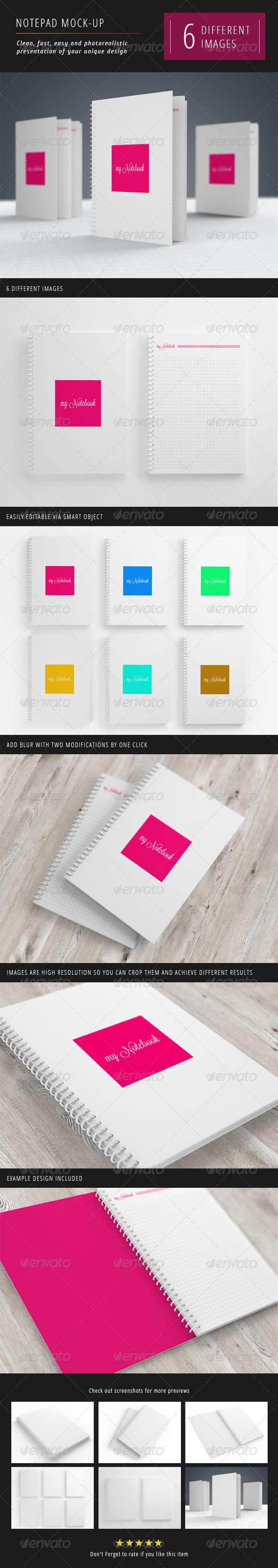 Notebook Mock-Up's Set - Books Print