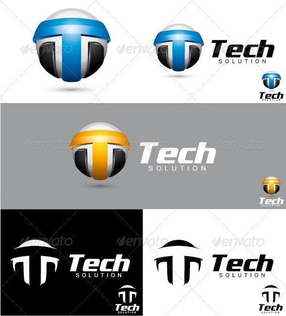Tech Solution Logo - Letters Logo Templates