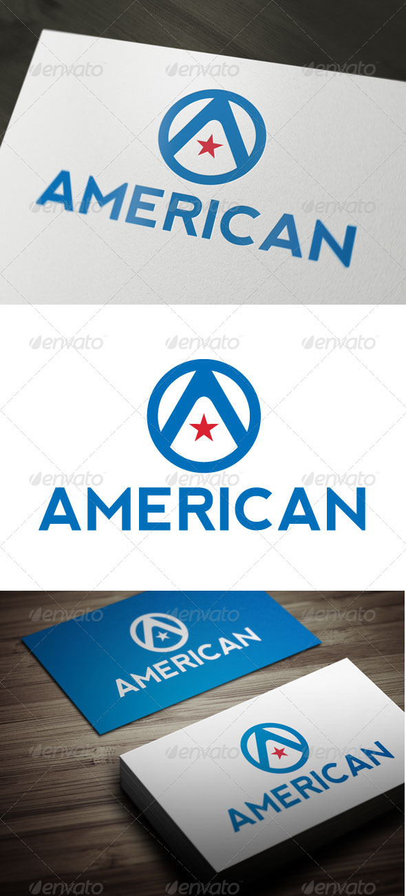 American - Letters Logo Templates