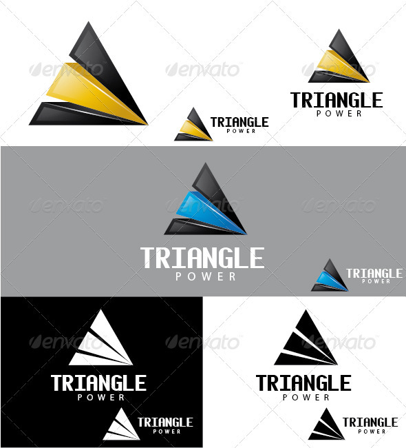Triangle Power Logo - Symbols Logo Templates
