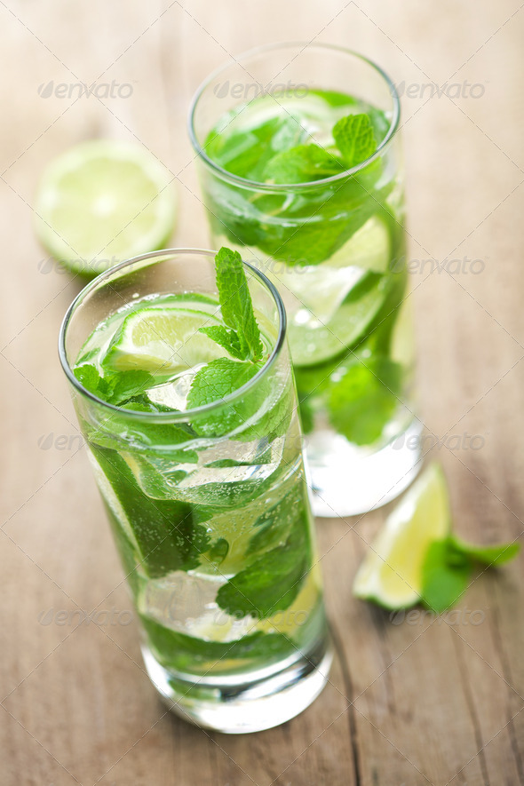 fresh mojito cocktail - Stock Photo - Images