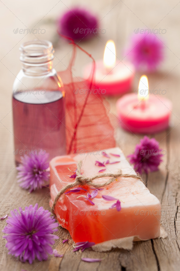 handmade herbal soap - Stock Photo - Images
