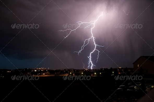 Lightning Strike - Stock Photo - Images
