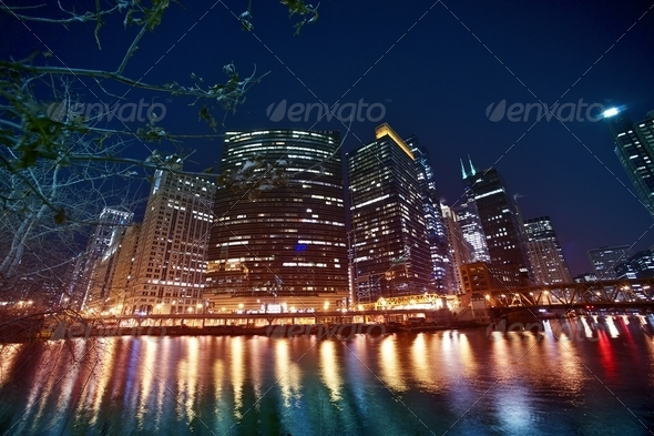 Chicago River Front - Stock Photo - Images