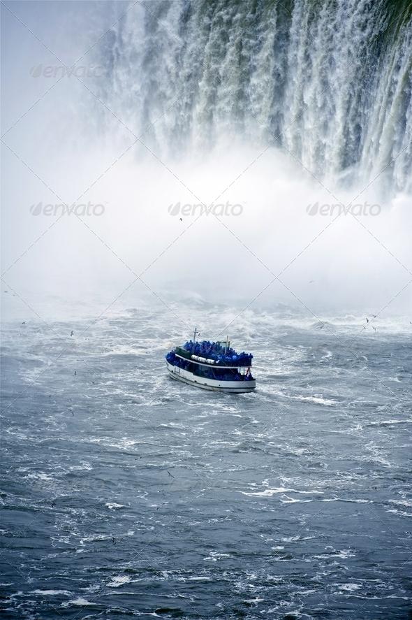Niagara Boat Tour - Stock Photo - Images