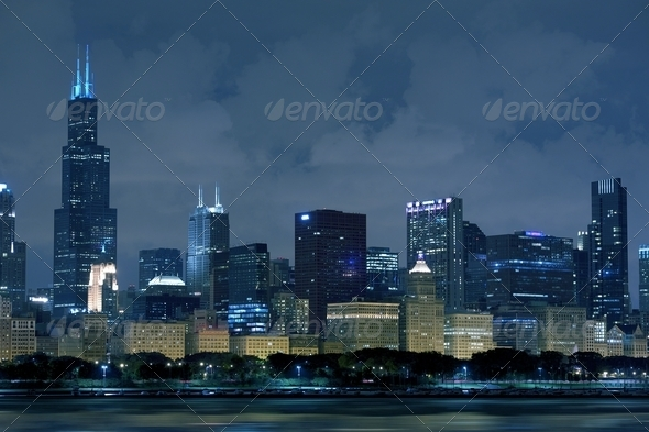 Chicago Illinois Skyline - Stock Photo - Images