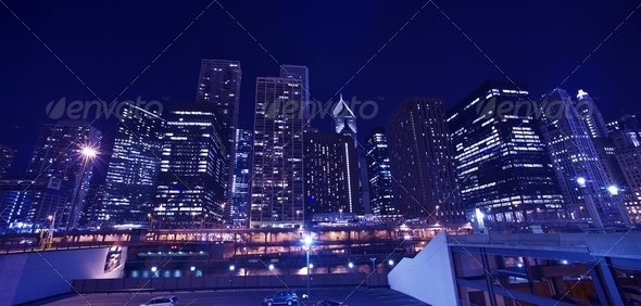 Skyline Chicago Cityscape - Stock Photo - Images