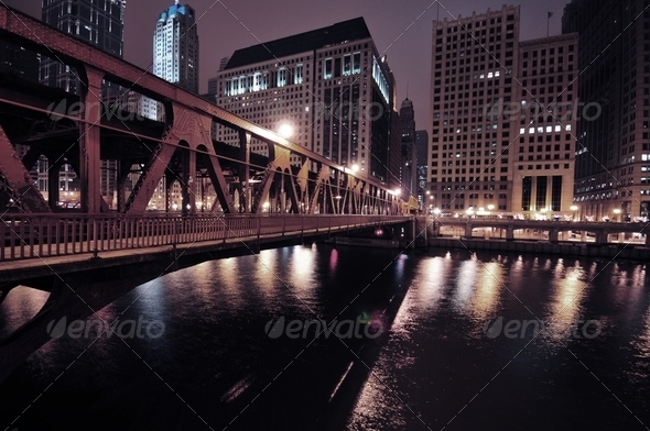 Chicago Riverwalk - Stock Photo - Images