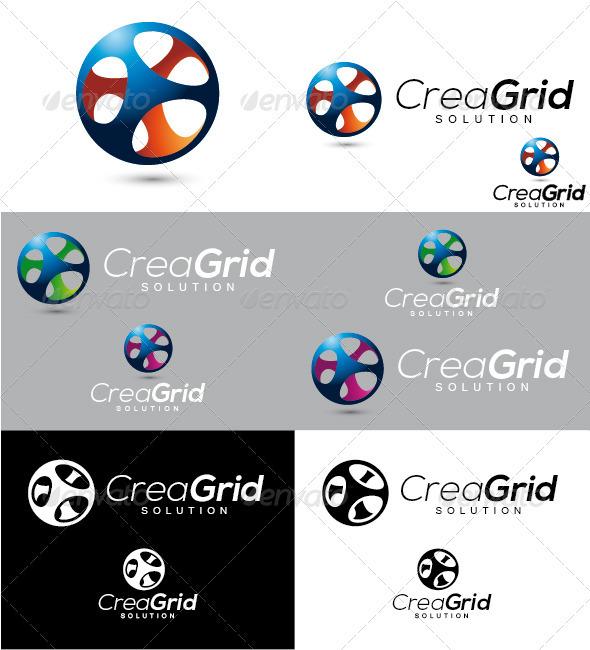 CreaGrid Solution Logo - Symbols Logo Templates