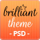 Brilliant Theme Creative Unique PSD Theme - ThemeForest Item for Sale