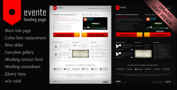 Free Download Evente Landing Page Nulled Latest Version