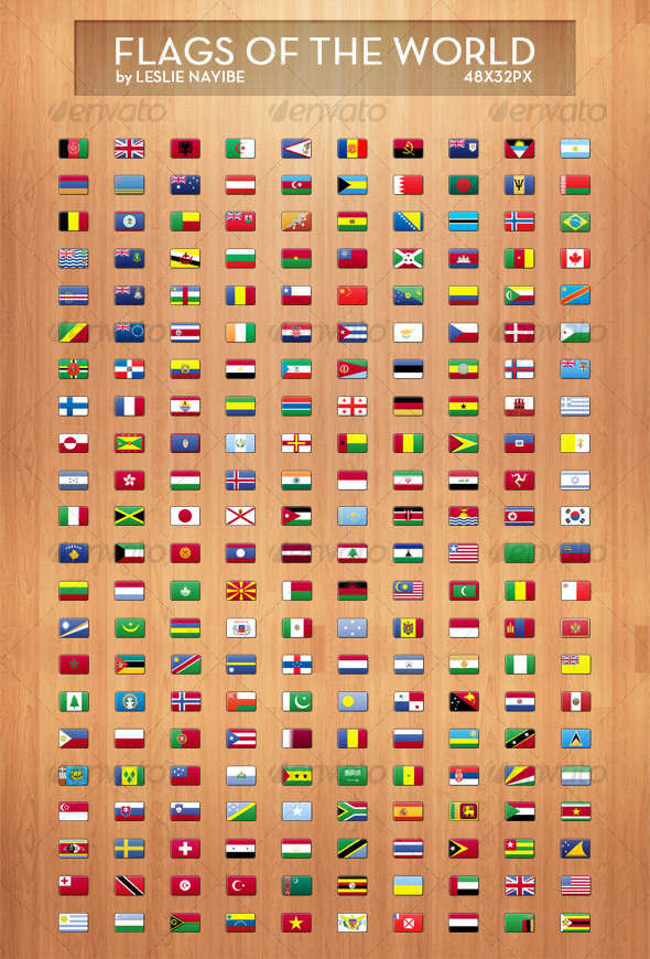 Flags of The World - Web Icons