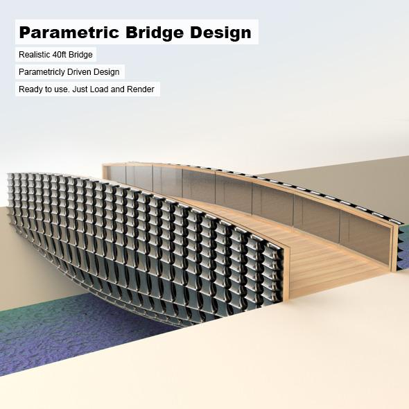 Parametric Bridge Design - 3DOcean Item for Sale