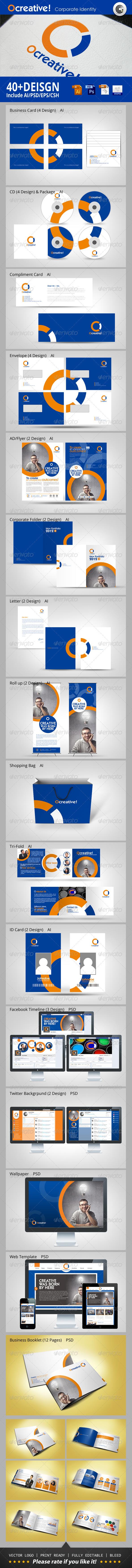 OCreative Studio Corporate Identity - Stationery Print Templates