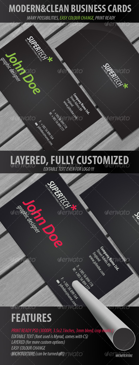 Black Business cards 2 - Creative Business Cards