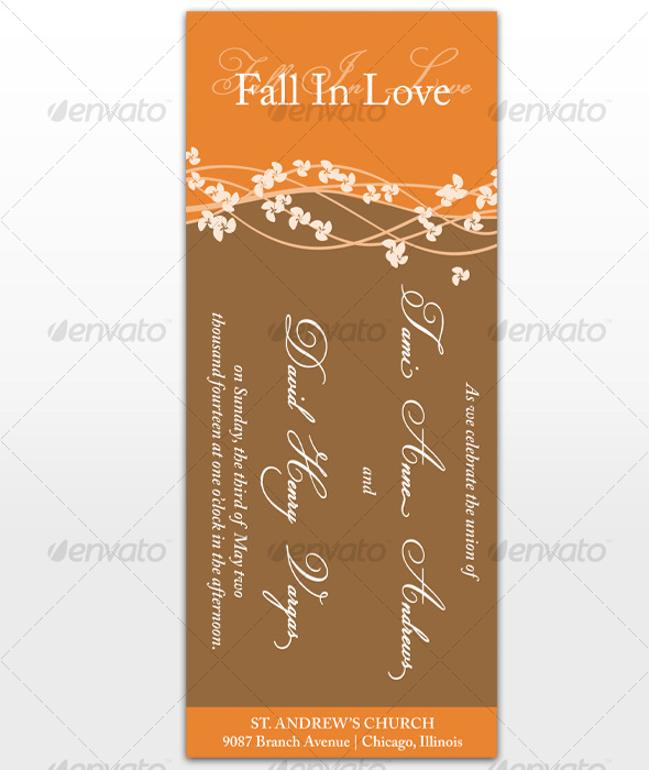 Fall In Love Wedding Cards - Miscellaneous Print Templates