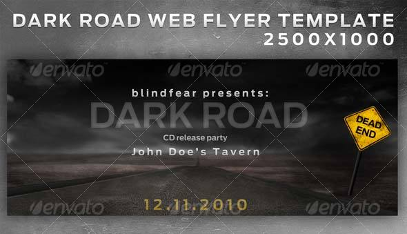"""Dark Road"" - Web Flyer - Layered - Miscellaneous Web Elements"