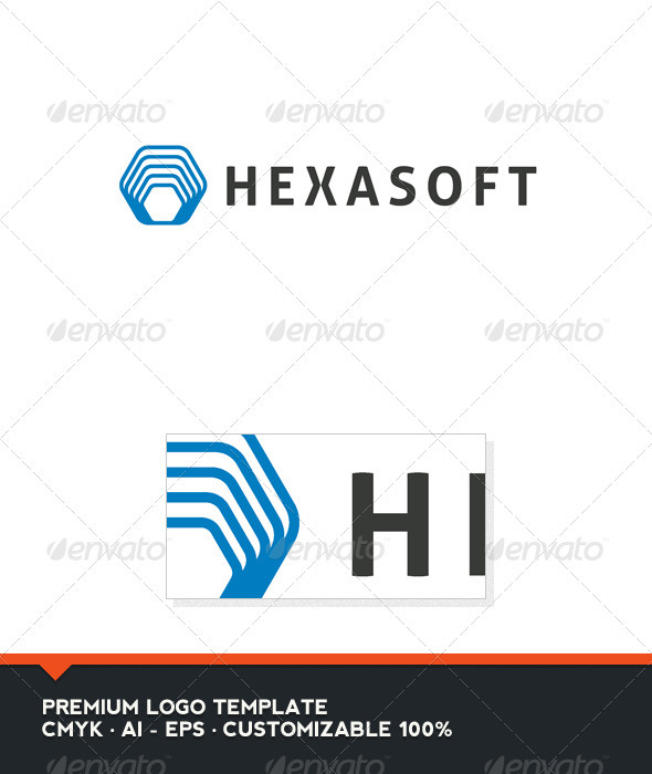 Hexasoft Logo Template - Abstract Logo Templates