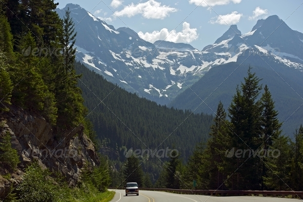 Northern Cascades Mountains - Stock Photo - Images